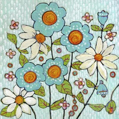 Daisy Blue Flowers by Blenda Tyvoll