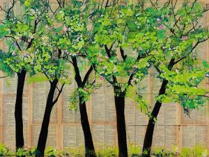 Five Trees in a Grove by Blenda Tyvoll