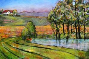 Landscape Art Scenic Fields Painting by Blenda Tyvoll