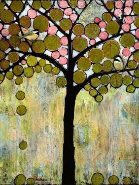 Print Art Chickadee Tree by Blenda Tyvoll