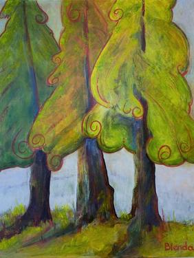 Print Art Trees At the Forests Edge by Blenda Tyvoll