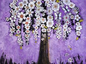 Radiant Orchid Tree by Blenda Tyvoll