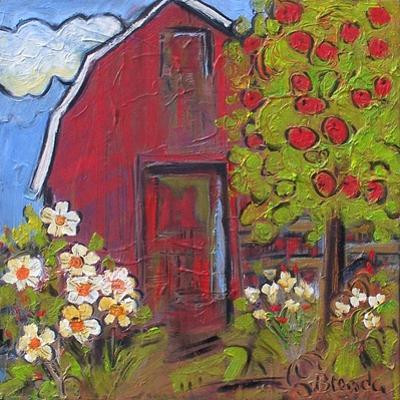 Red Barn by Blenda Tyvoll