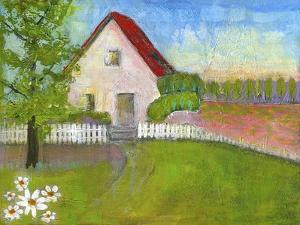 Red Roofed House by Blenda Tyvoll