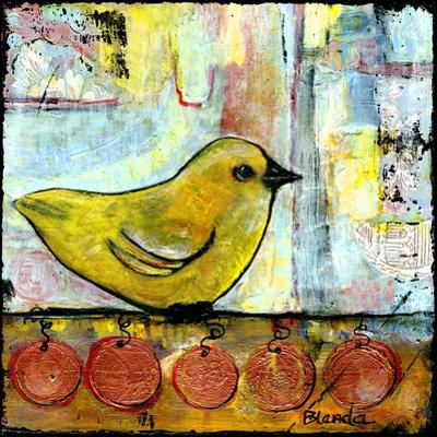 Sweet Green Bird by Blenda Tyvoll