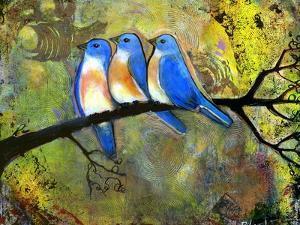 Three Little Bluebirds by Blenda Tyvoll