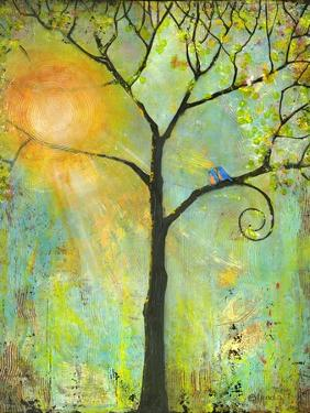 Tree Print Art Hello Sunshine by Blenda Tyvoll