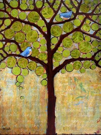 Tree Print Birds Boughs in Leaf by Blenda Tyvoll