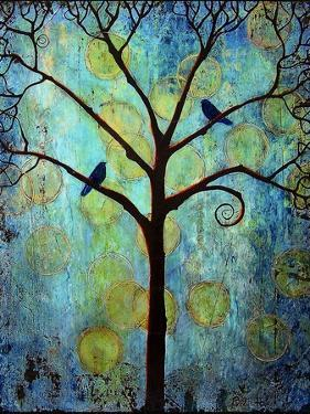 Tree Print Twilight Blue by Blenda Tyvoll