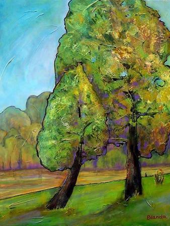 Two Pine Trees by Blenda Tyvoll