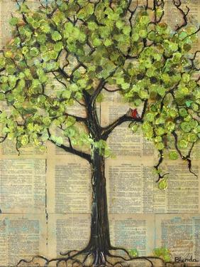 Two Red Cardinal Love Birds in a Tree by Blenda Tyvoll