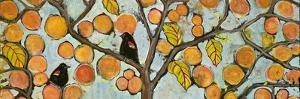 Two Red Winged Blackbirds Sitting in a Tree by Blenda Tyvoll