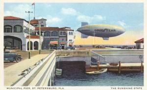 Blimp over Pier, St. Petersburg, Florida