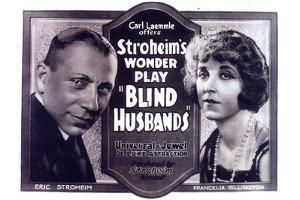 Blind Husbands Movie Sam De Grasse Francelia Billington Plastic Sign