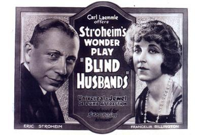 Blind Husbands Movie Sam De Grasse Francelia Billington Poster Print