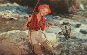 Blonde Lady Fishing