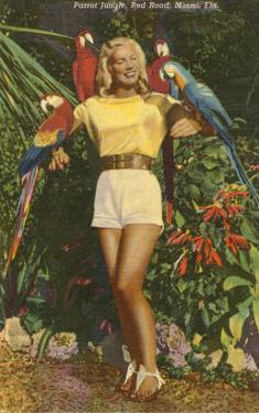 Blonde with Macaws, Florida