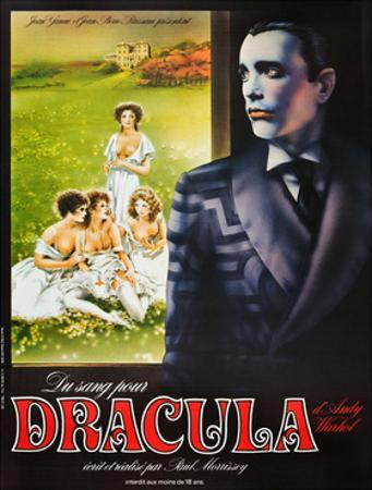 Blood for Dracula, (aka Andy Warhol's Dracula), Udo Kier on French Poster Art, 1974