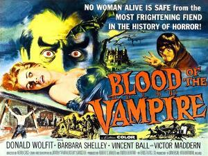 Blood of the Vampire, Barbara Shelley, Donald Wolfit, Victor Maddern, 1958
