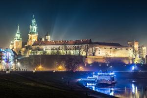 Poland, Krakow. Wawel Castle and Wistula . Krakow Poland. by bloodua