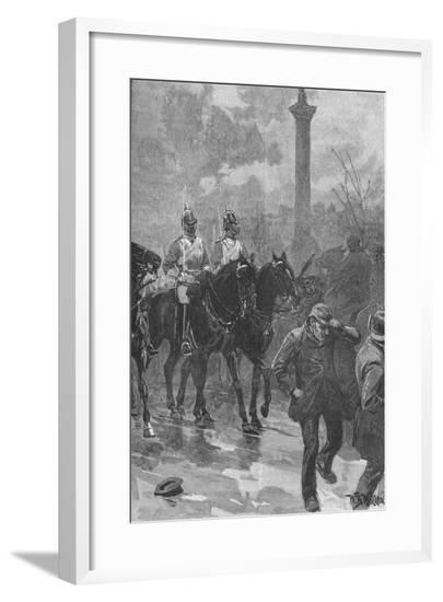 'Bloody Sunday', London, 1887 (1906)-WB Waller-Framed Giclee Print