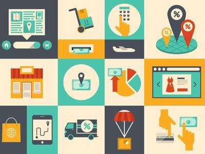E-Commerce And Online Shopping Icons