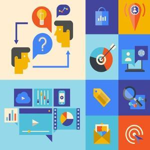 Website Marketing and Brainstorming Icons by bloomua
