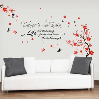 Blossom Flower with Dance in Rain Quote