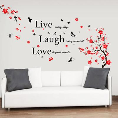 Blossom Flower with Live Laugh Love Quote