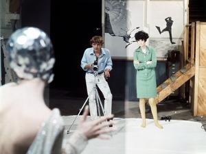 Blow-up by Michelangelo Antonioni (1912 - 2007) with David Hemmings, Peggy Moffitt, 1966 (photo)