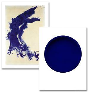 Blue Abstract Art Print Set