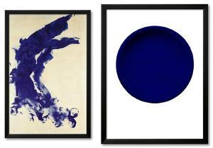 Blue Abstract Framed Art Print Set