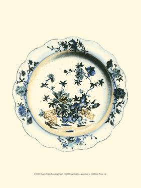 Blue and White Porcelain Plate I