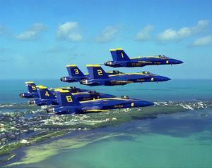 Blue Angels F/A Hornet maneuvers