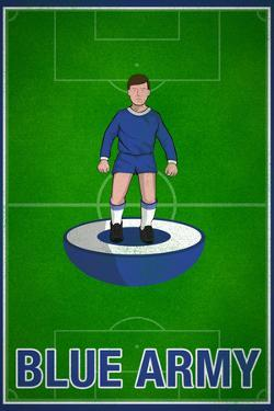 Blue Army Football Soccer Sports Poster