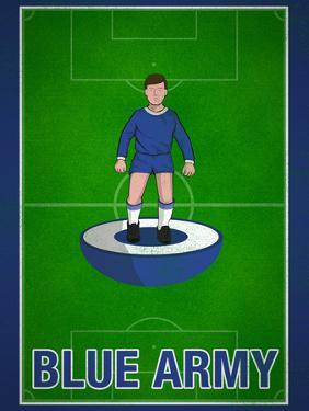 Blue Army Football Soccer Sports
