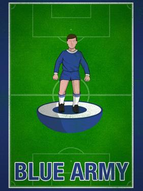 Blue Army Football Soccer Sports