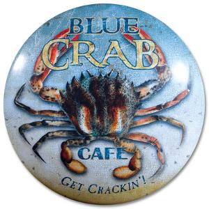 Blue Crab Café Dome Sign