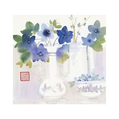 Blue Flowers in Vases