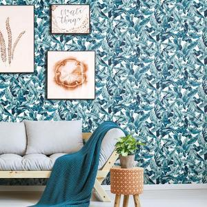 Blue Palm Peel & Stick Wallpaper