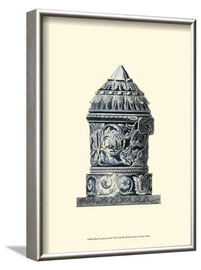 Blue Porcelain Urn II--Framed Art Print