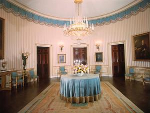 Blue Room in White House after Restoration
