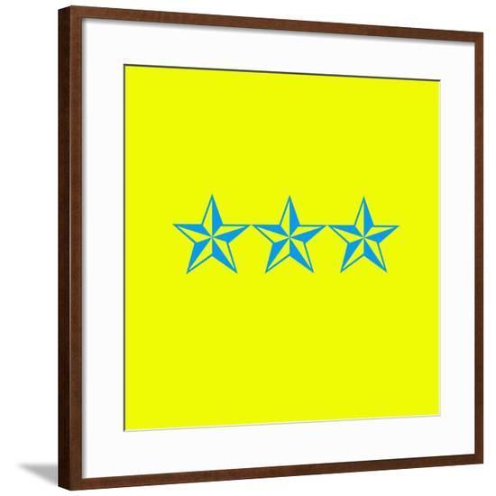 Blue Stars--Framed Giclee Print