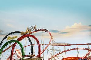 Oktoberfest, 'Wies'N', Funfair, Munich, Bavaria by Bluehouseproject