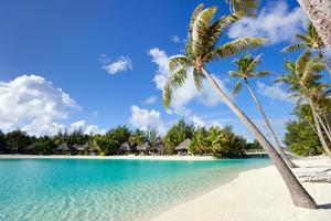 Beautiful Beach on Bora Bora Island in French Polynesia by BlueOrange Studio