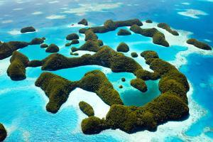 Beautiful View of 70 Islands in Palau from Above by BlueOrange Studio