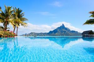 Beautiful View of Otemanu Mountain on Bora Bora Island by BlueOrange Studio