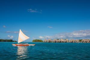 Sunset Sailing at Beautiful Bora Bora Lagoon by BlueOrange Studio
