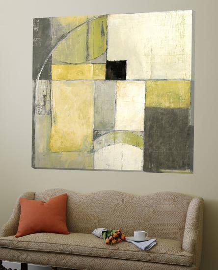 Blues Before Sunrise Yellow and Grey-Mike Schick-Loft Art