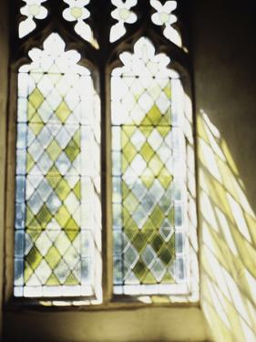 Blurred Image of a Stained Glass Window